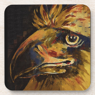 "Colourful Birds Head and Beak (""old"" Oil) Beverage Coaster"