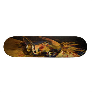 """Colourful Birds Head and Beak (""""old"""" Oil) Skate Boards"""