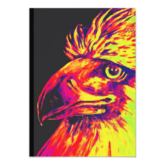Colourful Birds Head and Beak, Yellows and Reds Card