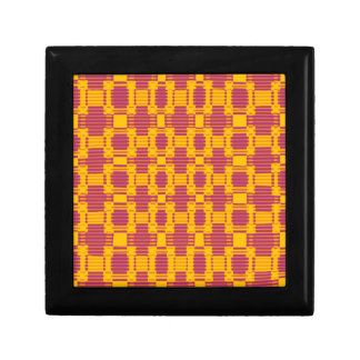 Colourful blurred chequered pattern gift box
