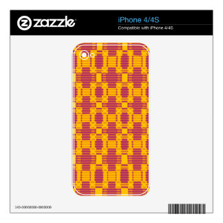 Colourful blurred chequered pattern iPhone 4S skin