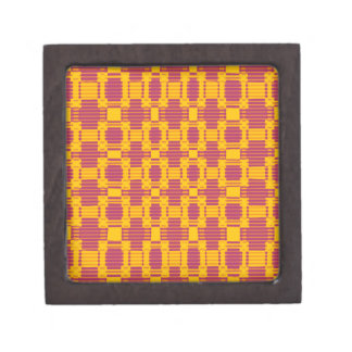 Colourful blurred chequered pattern jewelry box