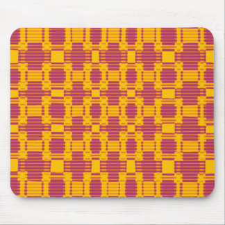 Colourful blurred chequered pattern mouse pad