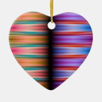 Colourful blurred stripes pattern ceramic ornament