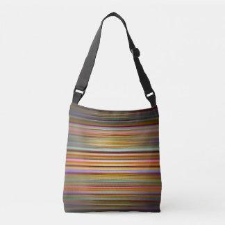 Colourful blurred stripes pattern crossbody bag