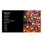 Colourful Bokeh Pattern Business Card Templates