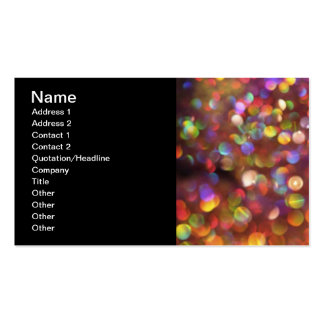 Colourful Bokeh Pattern Double-Sided Standard Business Cards (Pack Of 100)