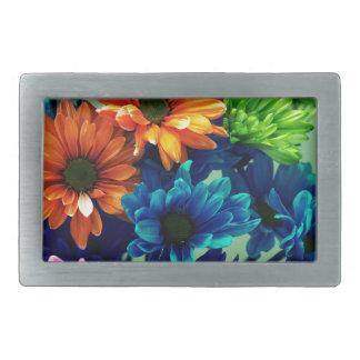 Colourful Bold Daisy Flowers Belt Buckle