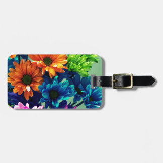 Colourful Bold Daisy Flowers Tags For Luggage