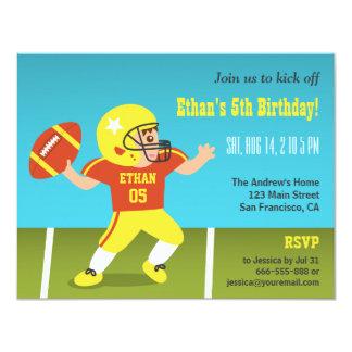 "Colourful Boy Football Birthday Party Invitations 4.25"" X 5.5"" Invitation Card"