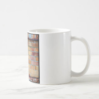 Colourful brick pattern coffee mug