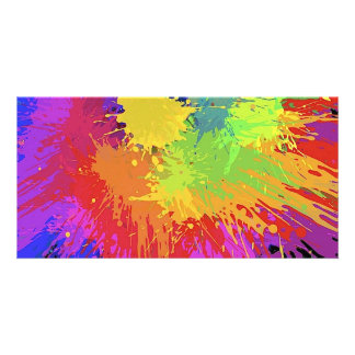Colourful Bright Ink Splat Design Vector Card