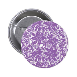 Colourful bright lace 2 inch round button