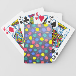 COLOURFUL BUBBLE GUM DOODLE RED GREEN BLUE BLACK O POKER DECK
