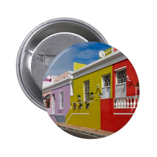 Colourful Buildings in Bo-Kaap, Cape Town 2 Inch Round Button