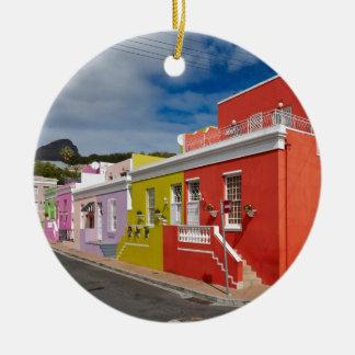Colourful Buildings in Bo-Kaap, Cape Town Ceramic Ornament