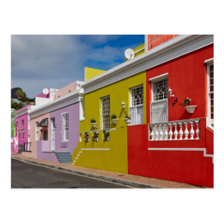 Colourful Buildings in Bo-Kaap, Cape Town Postcard