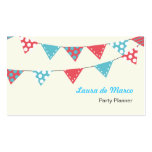 Colourful Bunting Party Planner Double-Sided Standard Business Cards (Pack Of 100)