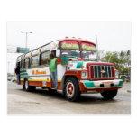 Colourful bus in Cartagena Postcard