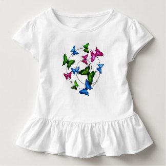 Colourful Butterflies for Toddler-Ruffle-Tee Toddler T-shirt
