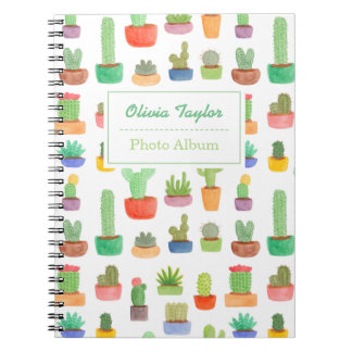 Colourful Cactus and Succulents Pattern Notebook