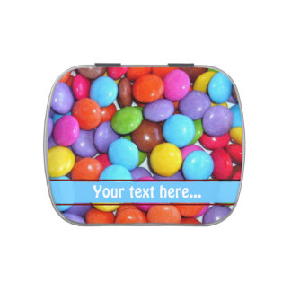 Colourful Candy Buttons Jelly Belly Candy Tins