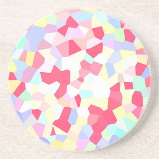 COLOURFUL CANDY ROCKS DIGITAL WALLPAPER BACKGROUND COASTER