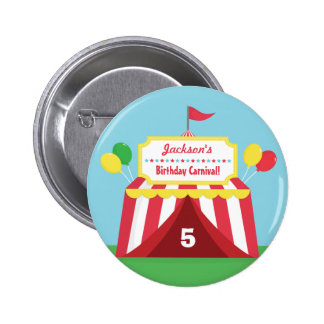 Colourful Carnival Kids Birthday Party Favors Button