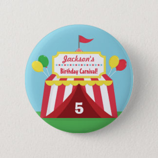 Colourful Carnival Kids Birthday Party Favors Pinback Button