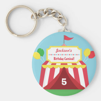 Colourful Carnival Kids Birthday Party Keychain