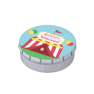 Colourful Carnival Kids Birthday Party Treats Candy Tins