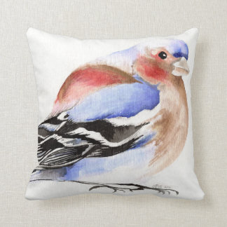 Colourful Chaffinch 2011 Throw Pillow