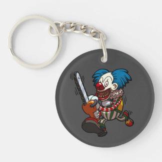 Colourful Chainsaw Clown Halloween Horror Cartoon Keychain