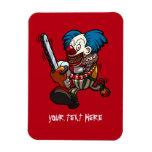 Colourful Chainsaw Clown Halloween Horror Cartoon Magnet