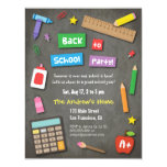 Colourful Chalkboard Back to School Party 4.25x5.5 Paper Invitation Card