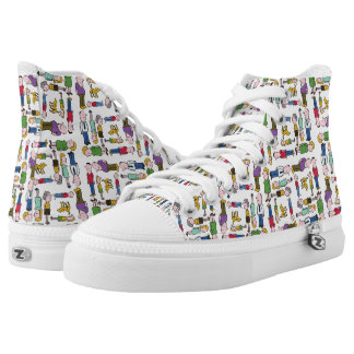 Colourful characters patterned High-Top sneakers