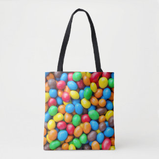 Colourful Chocolate Coated Sweets Tote Bag