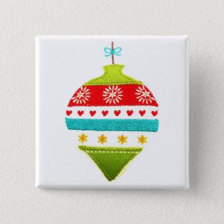 Colourful Christmas Bauble Design Pinback Button