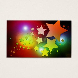 colourful Christmas stars lights Business Card