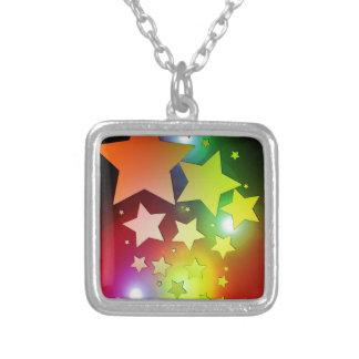 colourful Christmas stars lights Pendants