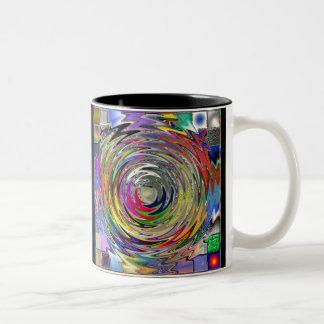 Colourful Circle Swirl Mug