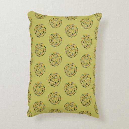 Decorative Pillows With Circles : Colourful circles decorative pillow Zazzle