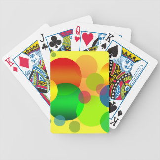 Colourful CIRCLES RANDOM FUN YELLOW RED BLUE GREEN Bicycle Playing Cards
