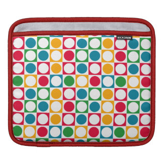 Colourful Circles & Squares Pattern Sleeve For iPads