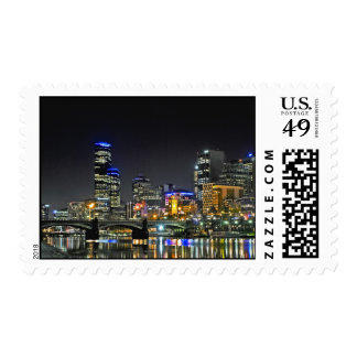 Colourful City Lights Postage