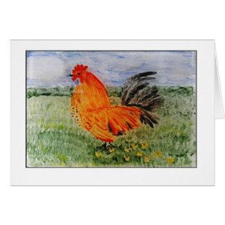 Colourful Cockeral Art Card
