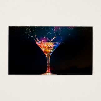 Colourful Cocktail Splash Business Card