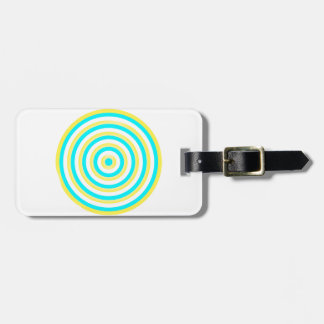 Colourful Concentric Circles Luggage Tag