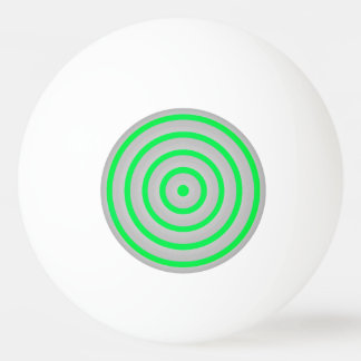 Colourful Concentric Circles Ping Pong Ball