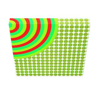 Colourful Concentric Circles Split Canvas